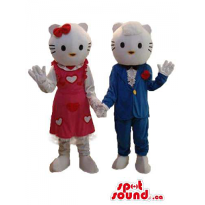 Kitty Cat Couple Plush...