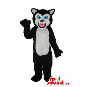 Black Wolf Plush Mascot...