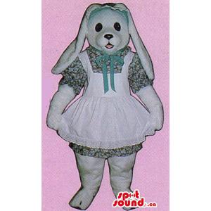 White Bunny Plush Mascot...