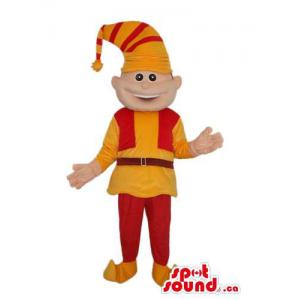 Cute Dwarf Mascot Dressed...