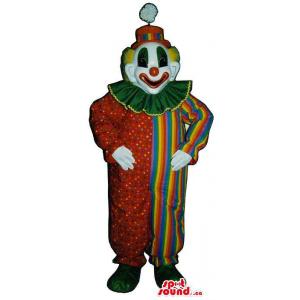 Very Colourful Clown Mascot...