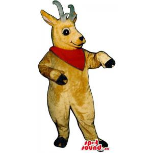 Brown Reindeer Plush Mascot...