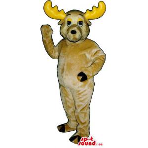 Beige Moose Plush Animal...