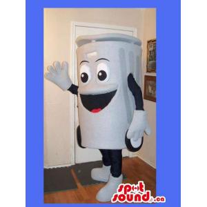 White Recycling Box Mascot...