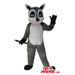 Cartoon Grey Raccoon Plush...