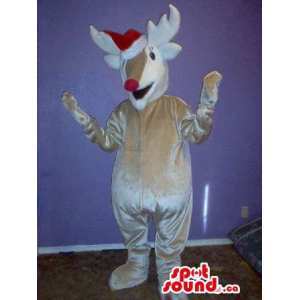 Shinny Grey Reindeer Plush...