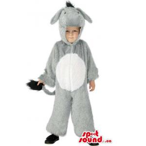 Cute Halloween Grey Donkey...