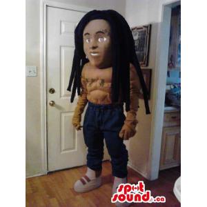 Cool Afro Man Plush Mascot...
