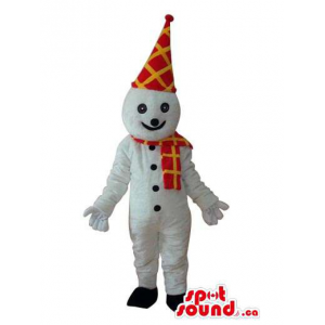 Snowman Mascot With A Long...