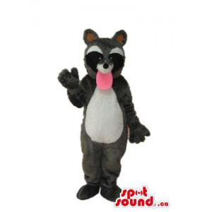 Grey And Black Raccoon...