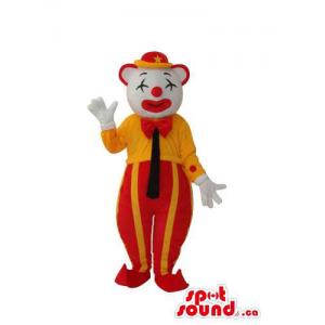 White Clown Mascot With...