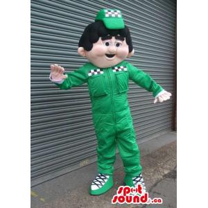 Car Workshop Boy Mascot...