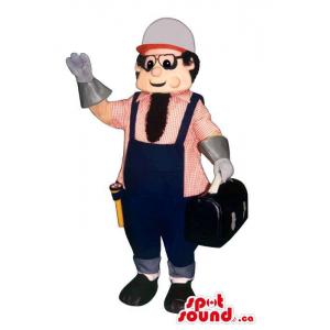Plumber Worker Man Mascot...