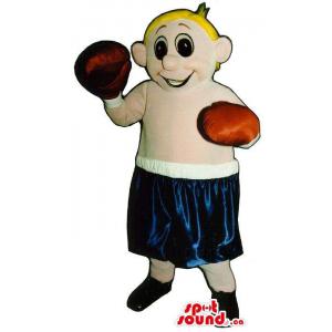 Blond Boy Plush Mascot...