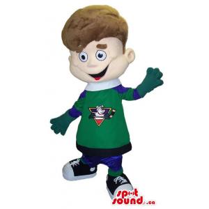 Boy Plush Mascot Dressed In...