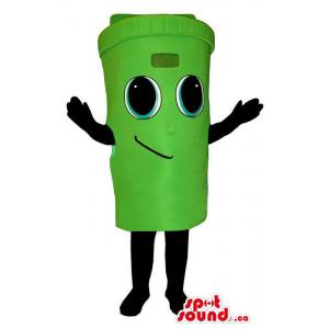 Cute Green Trash Can Or...