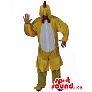 Yellow And White Hen...