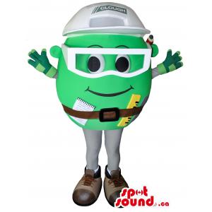 Great Green Round Mascot...