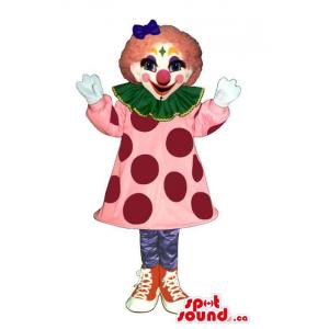 Colourful Girl Clown Mascot...