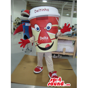 Red Large Coffee Cup Plush...