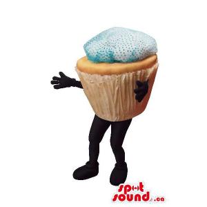 Large Muffin Food Mascot...
