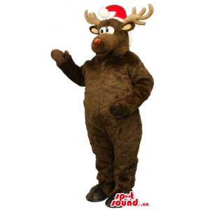 Brown Reindeer Animal Plush...