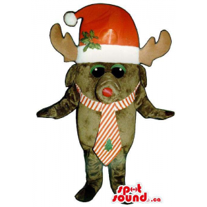 Small Brown Reindeer Animal...