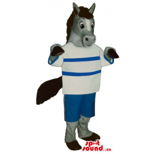 Grey Donkey Animal Plush...