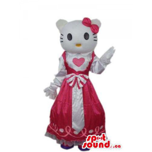 Kitty Cat Cartoon Mascot...