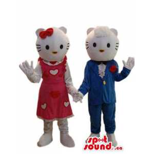 Kitty Cat Character Couple...