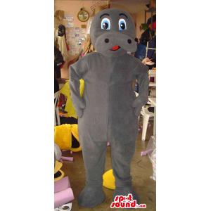 Cute All Grey Hippopotamus...
