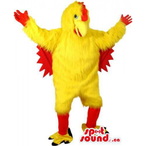 Customised Yellow And Red Large Chicken Animal Mascot