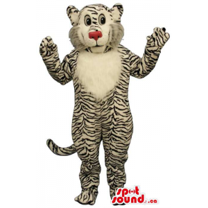 Tiger Plush Mascot With A...