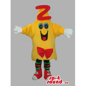 Yellow Mascot With Letter Z...