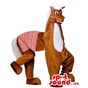 Brown Donkey Plush Mascot...