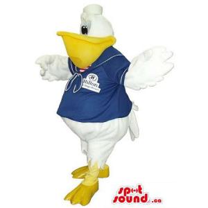 Pelicano Branco Mascot...