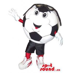 Soccer Ball Plush Mascot...
