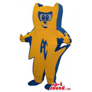 Orange And Blue Mascot...