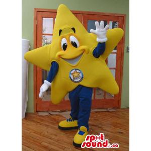 Happy Yellow Star Plush...