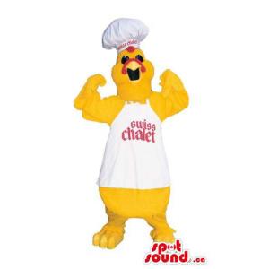 Yellow Chicken Plush Mascot...