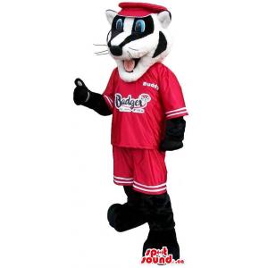 Customised Black And White Badger Animal Mascot
