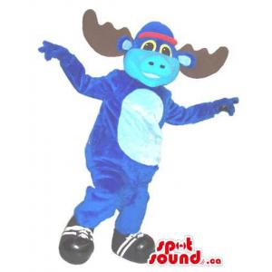 Flashy Blue Moose Plush...