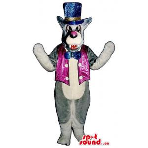 Grey Angry Wolf Plush...