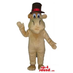 Brown elegant Hippo in a...