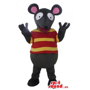 Black mouse in yellow and...