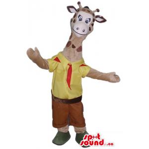 Giraffe The scout  cartoon...