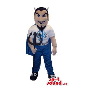 Devil Human Mascot With A...