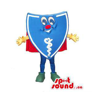 Peculiar Blue Shield Mascot...
