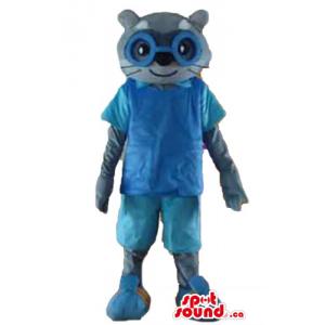 Blue dressed meerkat animal...