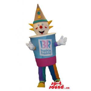 Peculiar Clown Mascot In An...